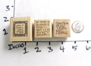 Wooden-RUBBER-STAMP-Paula-Best-Sayings-Phrases-For-Cards
