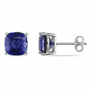 Amour-Sterling-Silver-6-Ct-Created-Blue-Sapphire-Stud-Earrings