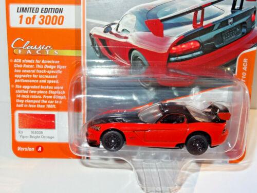 2008 Dodge Viper SRT10 ACR  Orange *RR* Johnny Lightning Classic Gold 1:64 NEU