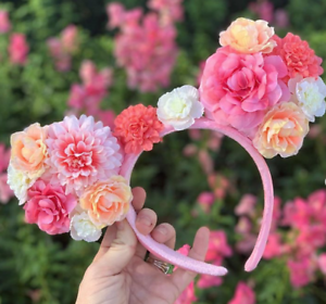 DISNEY-THEME-PARK-FLOWER-amp-GARDEN-FESTIVAL-EARS-BN-MINNIE-MOUSE-FLORAL-EARS