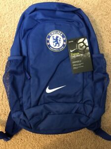 3cf7c82eeec8 Image is loading Nike-Chelsea-Football-Club-Stadium-Backpack-Blue-White-