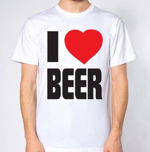 I Love Beer T-Shirt Alcohol Drunk Sober Smashed Top