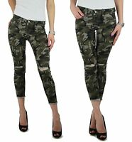 sexy damen jeans r hre stretch cargo hose camouflage army. Black Bedroom Furniture Sets. Home Design Ideas