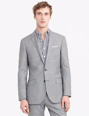 J CREW 40R Ludlow Slim-fit Suit Jacket Italian Worsted Wool Mineral Grey G1109