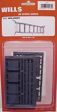 Wills SS57 Vari-Girder Bridge Walls 1/76 Scale = 00 Gauge Plastic Kit - 1st Post