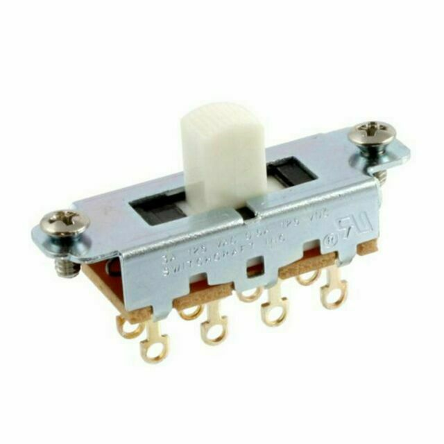 Switchcraft White On-Off-On Slide Switch for Mustang guitars