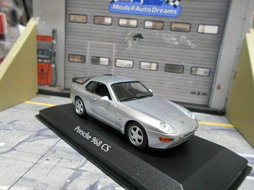 Porsche 968cs 968 CS Club Sport Coupe plata met 1993 Minichamps maxichamps 1:43
