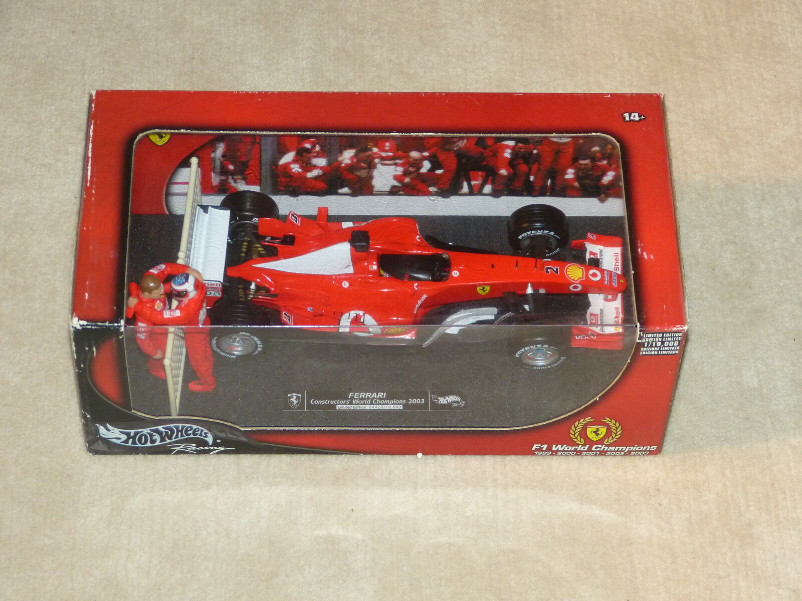 Hot Wheels g3764 1 18 Ferrari f2003  3 Michael Schumacher Rubens Barrichello