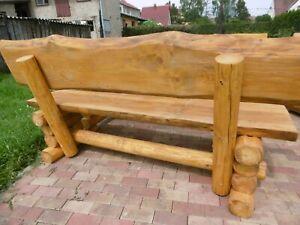 Details Zu 1 Rustikale Gartenbank 150cm Lina Massiv Farbe Kiefer Holz Bank