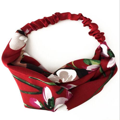 New Lady Bohemian Print Headband Retro Bandanas Floral HairBand Headwrap elegant