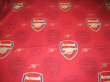 """ARSENAL Crest Football Club AFC Cotton Fabric 31""""W x 32""""L FC Footy Boys Red"""