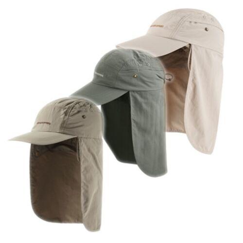 Craghoppers nosilife Desert ha gorra mosquitos protección solar einrollbar PVP 34 € s-m
