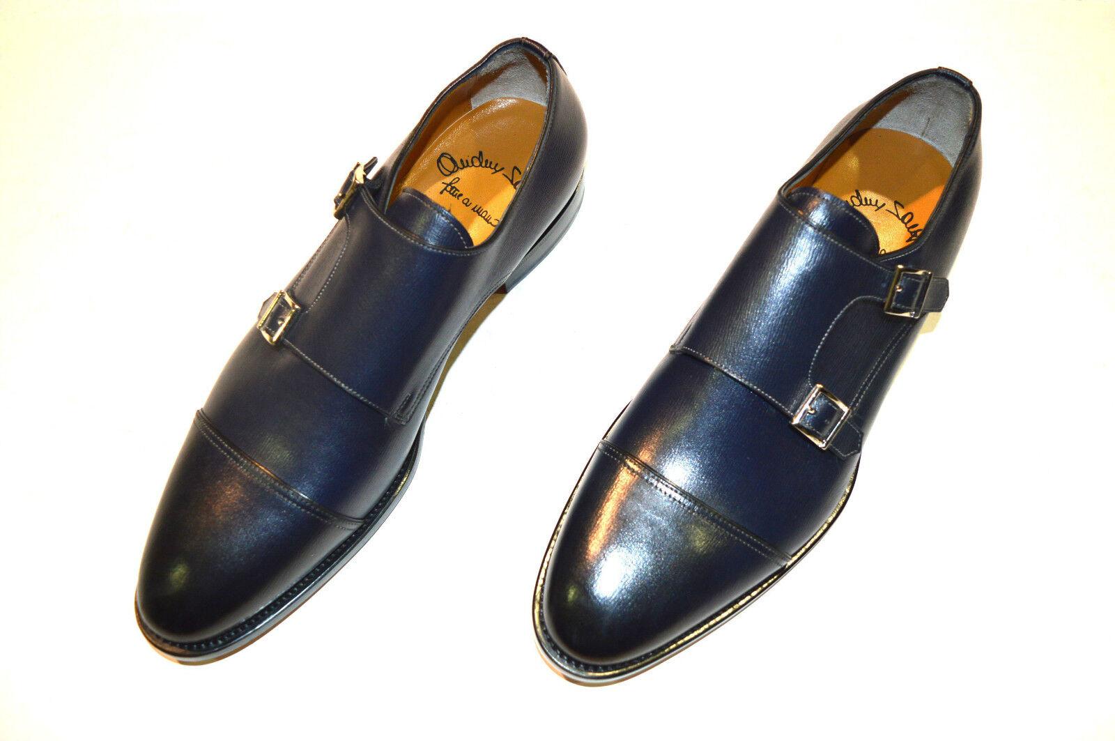 Nouvelle robe SANTONI Chaussures en cuir Moine Bracelet Taille EU 39.5 UK 5.5 US 6.5 (3R)