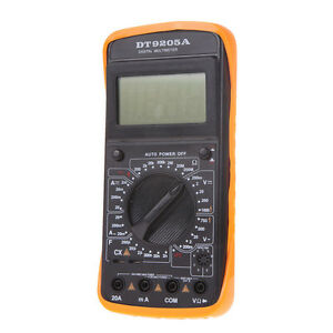 lcd digital multimeter ohmmeter kapazit t messger t incl 9v batterie transistor ebay. Black Bedroom Furniture Sets. Home Design Ideas
