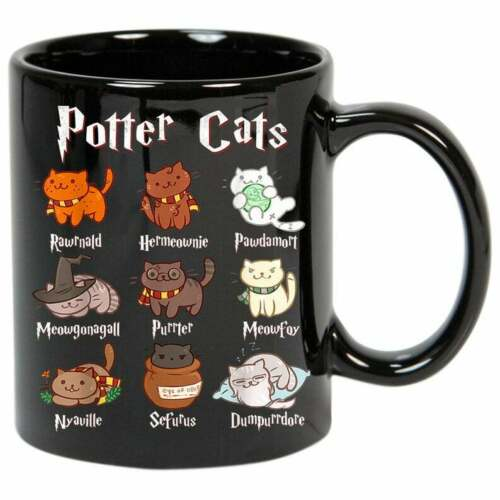 Personalised Potter Cats Cute Harry Pawter Kitten Gifts for Cat  Coffee Mug 11oz