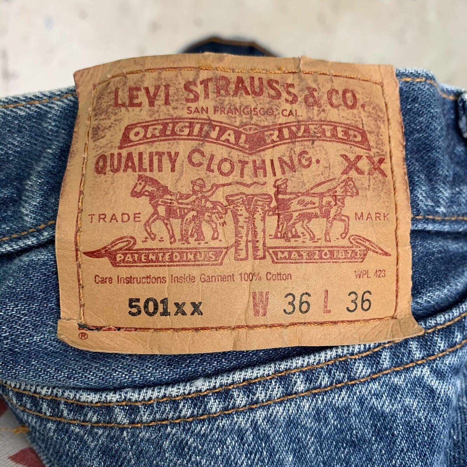 Vintage 90s Levis 501 Jeans Mens 36x36 - image 5