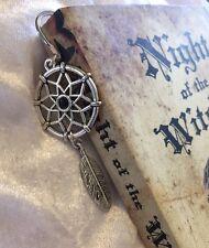 �� Dreamcatcher Bookmark Black Silver Plated Bookworm Gift ��