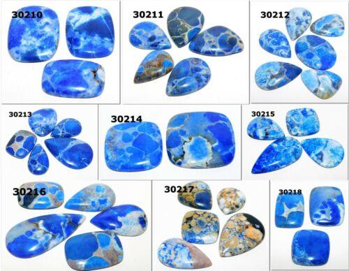 Natural maravilloso Azul cobra Cabujón piedra suelta por mayor Lote LA-30210
