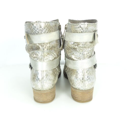 Beige Stiefeletten Boots Gr Mjus Silber 41 B6Hwnqx