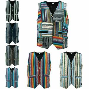 Waistcoat-Vest-Mens-Cotton-Canvas-Hippie-Boho-Suit-Men-Ladies