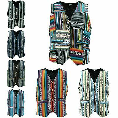 Analytisch Waistcoat Vest Mens Cotton Canvas Hippie Boho Suit Men Ladies