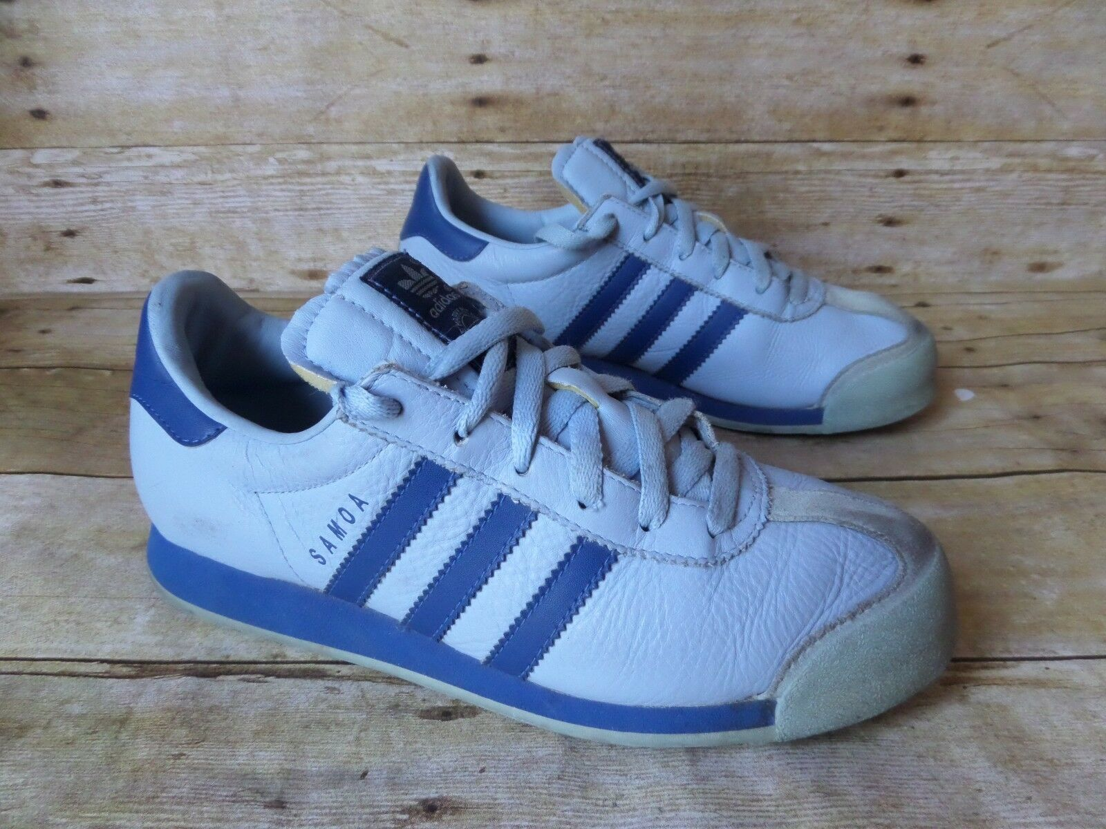 ADIDAS Originals SAMOA Blue Leather Lace Up Athletic Shoes Men's 7.5 The latest discount shoes for men and women