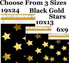 Choose 6x9 10x13 19x24 Black Gold Stars Boutique Poly Mailers Fast Shipping