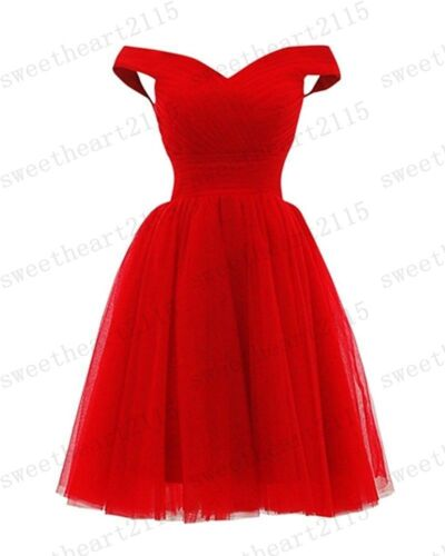 New Short Bridesmaid Formal Gown Ball Party Evening Prom Dress Size 6-24