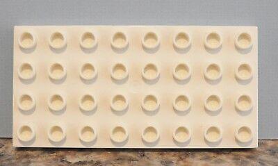 Lego Duplo WHITE 4x8 Peg Base Plate