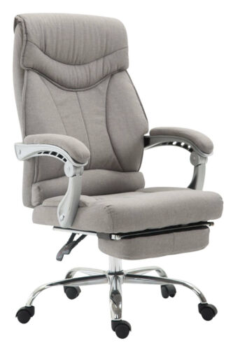 Bürostuhl Iowa Stoff Schreibtischstuhl mit Fußablage Chefsessel Drehstuhl Sessel