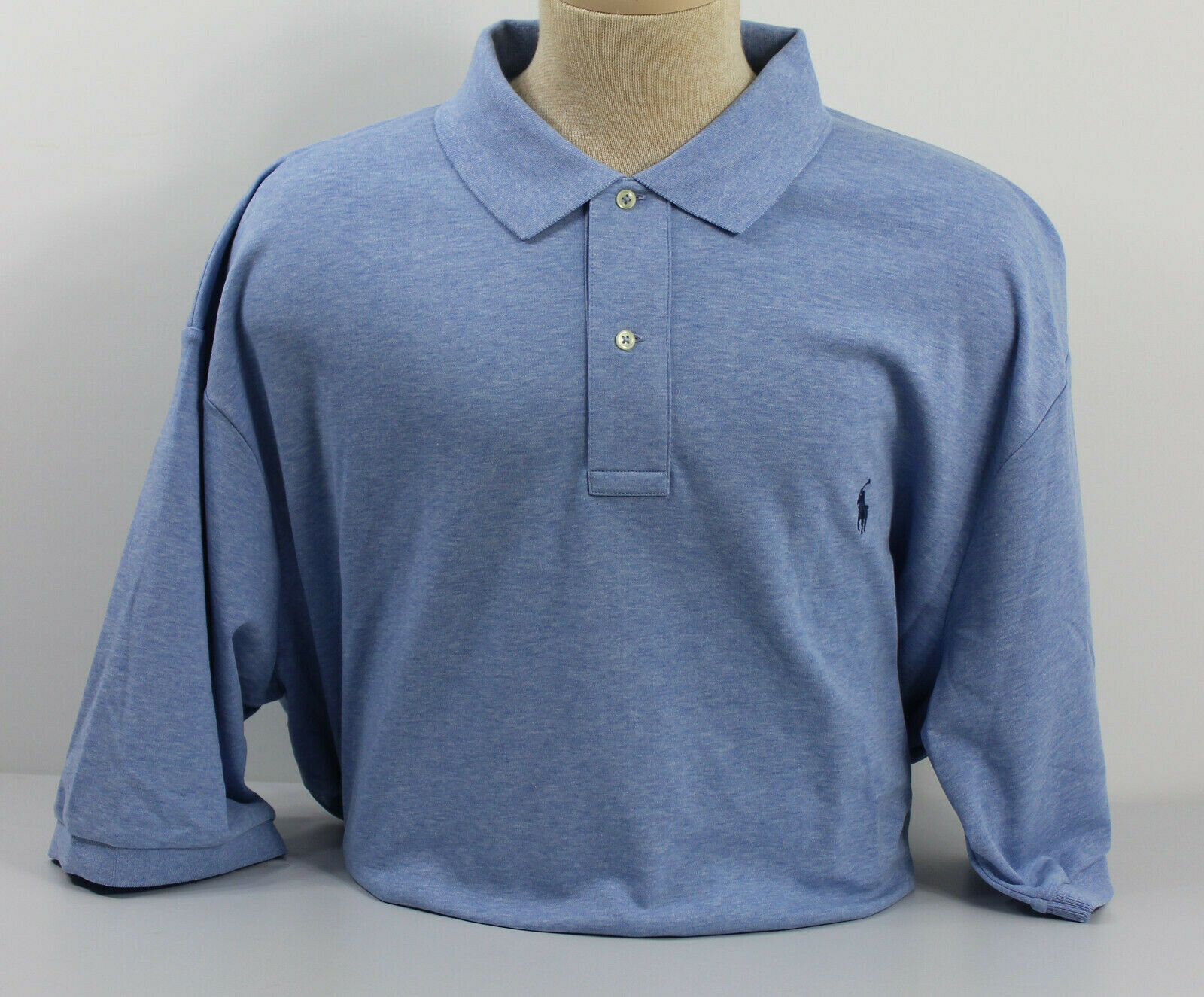 Polo Ralph Lauren Mens Shirt bluee Navy 3XB Cotton Jamaica Pony