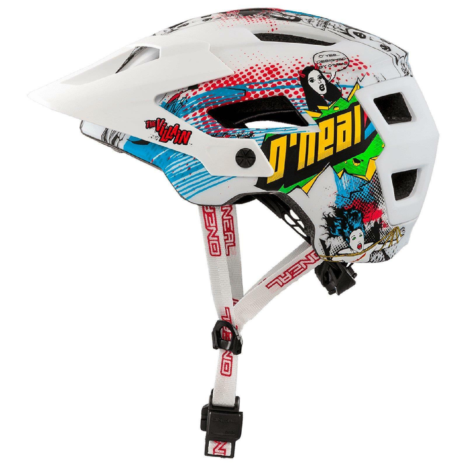 ONeal defensor 2.0 villano blancoo casco Enduro rastro de la bici bicicleta de montaña todo MTB