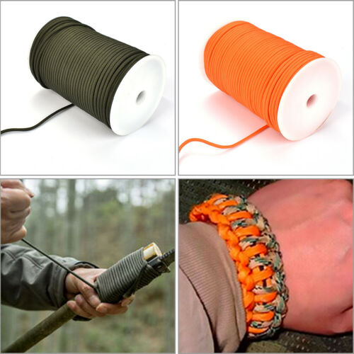 100m Survival Paracord Parachute Cord 4mm 9 Strand Lanyard for Outdoor Camping