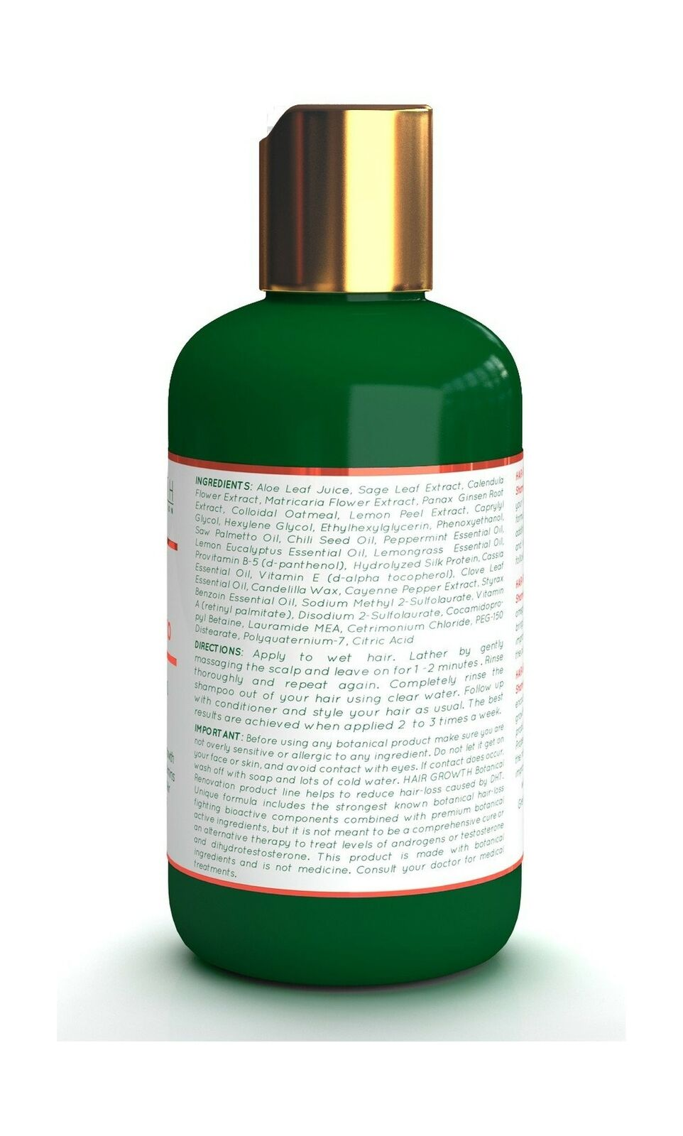 Hair Growth Cayenne Saw Palmetto Scalp Stimulating Botanical Shampoo  Original