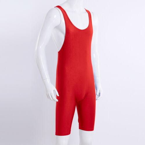 Herren Wrestling Singlet Jumpsuit Boxer Brief Bodysuit Overall Fitness Sportbody