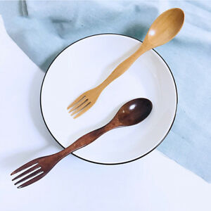 Wooden-Lightweight-Spork-Fork-Blade-Cutlery-2-In-1-Spoon-Portable-For-Camping-8C