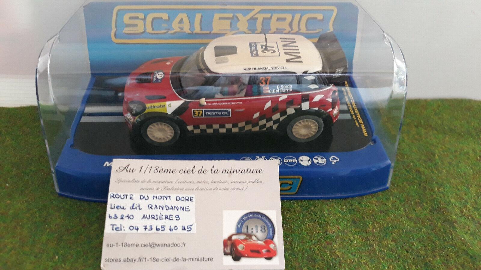 Voiture SLOT BMW MINI COUNTRYMAN WRC 1 32 SCALEXTRIC C3301 circuit routier élect