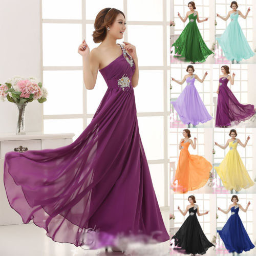 2016 Homecoming Evening Wearing Formal Ball Gown Prom Bridesmaid Dress Chiffon