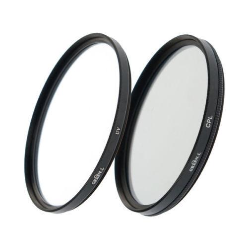 Kit filtros doble rosca 55mm UV+CPL protector+polarizador circular