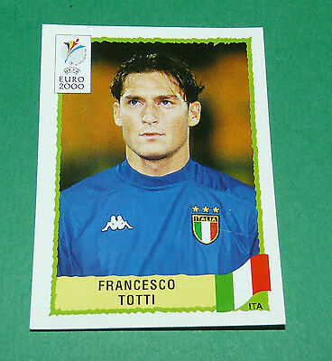 PANINI UEFA EURO 2000 N 181 TOTTI ITALIA BLACK BACK TOP MINT!