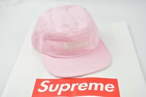 5802437c1ee Image is loading Supreme-SS18-Washed-Chino-Twill-Camp-Cap-Light-
