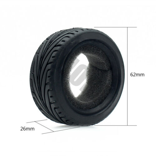 4PCS Tire Tyre Set for 1//10 RC On Road Car Traxxas HSP Tamiya HPI Kyosho RC Car