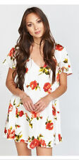 Show Me Your MuMu Ladies Rosa Bonita Short Sleeve Kylie Mini Flower Dress NEW-L