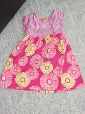 "NWT - Gymboree ""Hop 'n' Roll"" short sleeved pink & yellow flowered dress - 5T"