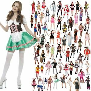 NEW WOMENS LADIES COSTUME FANCY PARTY DRESS ADULT HALLOWEEN NOVELTY ... 2b52b3843d11