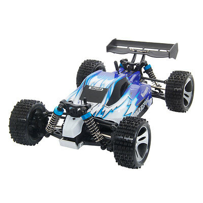 New Wltoys A959 2.4G 1:18 Vortex 4WD High Speed RC Car Off-Road Vehicle RTR Blue