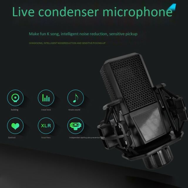 Computer Microphone Sound Card K Song Phone Dedicated Live Broadcast Equipm N8B8