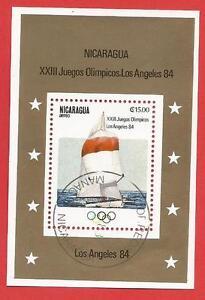 Olympische-Sommerspiele-Los-Angeles-84-Segeln-Block-147-Nicaragua