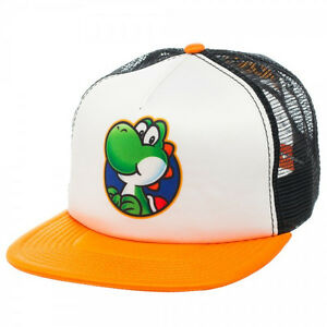 NEW-Nintendo-YOSHI-SNAPBACK-HAT-Adjustable-Men-039-s-Mesh-Trucker-Cap-Wiiu-Era-COOL