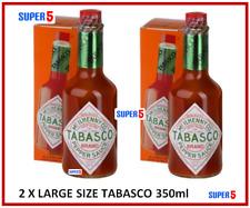 2 x Tabasco Pepper Sauce | 350ml Bottle | LARGE SIZE BOTTLES